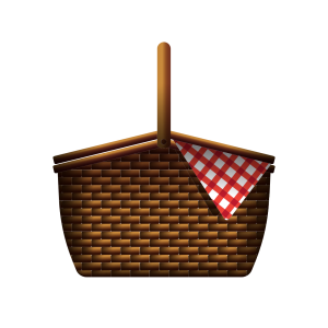 Reusable Wicker Hamper