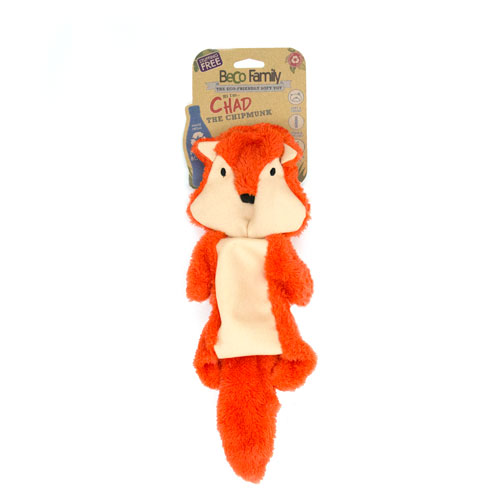 Beco Pets Stuffing Free Chad Chipmunk - Large