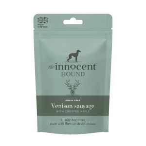 The Innocent Hound Venison Sausages with Chopped Apple