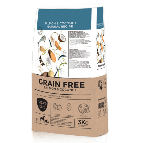 Natura Diet *Grain Free* Salmon & Coconut Natural Recipe