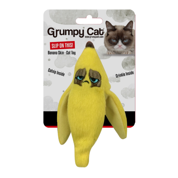 Grumpy Cat Banana Peel Crinkle Toy