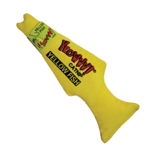 Yeowww! Catnip Yellow Fish Toy