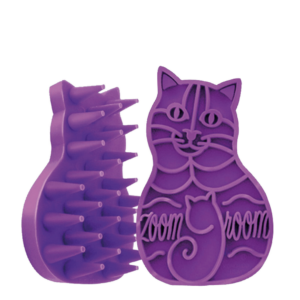 Purple ZoomGroom brush for cats