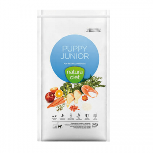 Large sack of Natura Diet Puppy Junior food