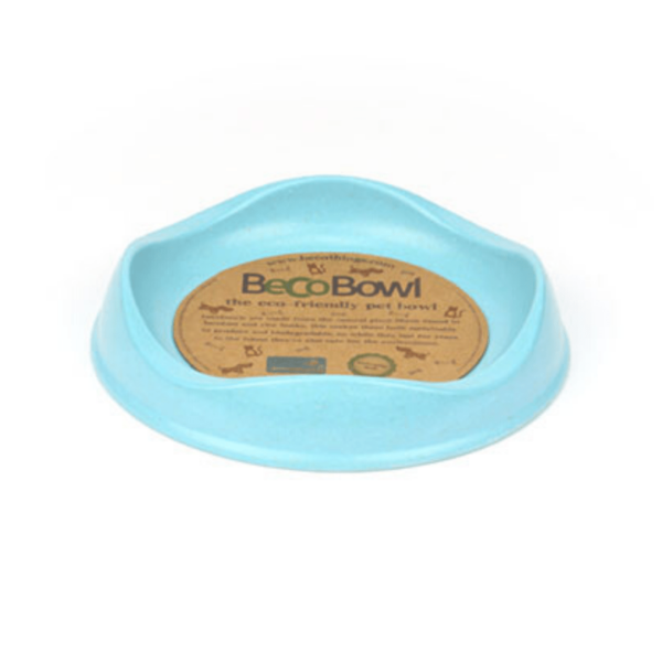 Beco Pets Eco Friendly Bamboo Blue Cat Bowl