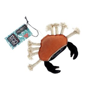 picture shows crab eco-toy for dogs