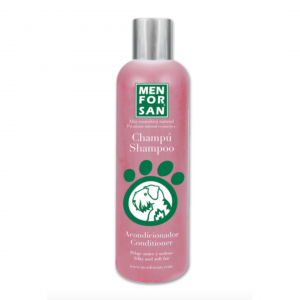 picture shows a bottle of Men For San shampoo with conditioner.