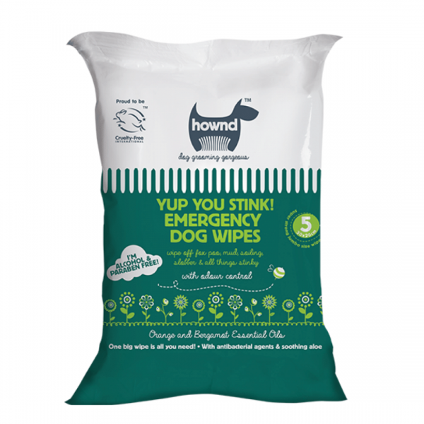 Hownd Emergency dog wipes