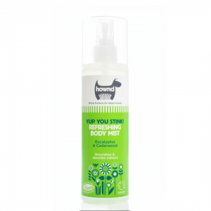 hownd body mist for dogs. Yup You Stink!