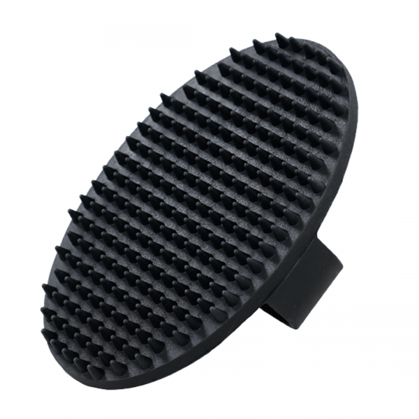 Rosewood rubber dog & cat grooming brush